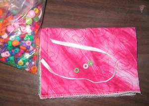 Ribbon and pony beads