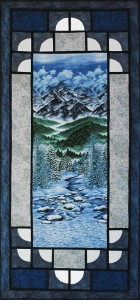 Winter Landscape by Night - pieced and quilted by Cary Flanagan