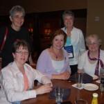 Nancy Dill, Yolanda F, Beth H, Barb Campbell, Cary Flanagan, and Jen Eskridge(holding camera)