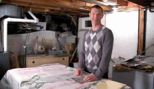Randy in his basement