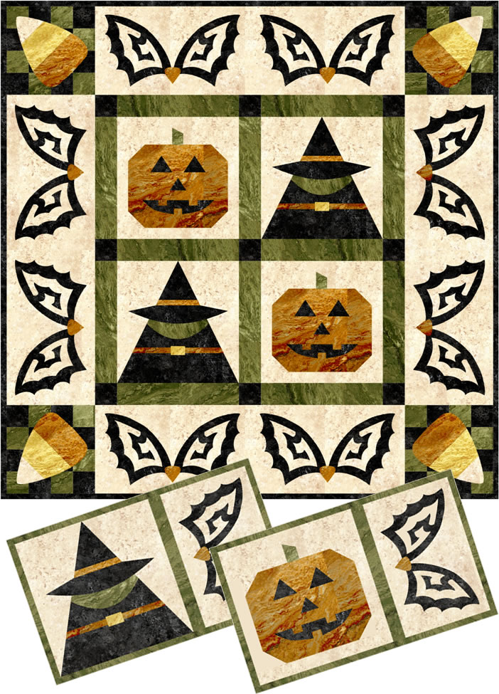 Spooky Fun Wall Hanging and Placemat Pattern LLS-106