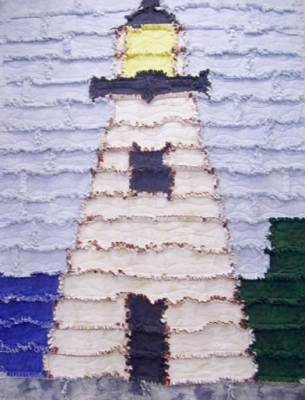 lighthouse rag quilt