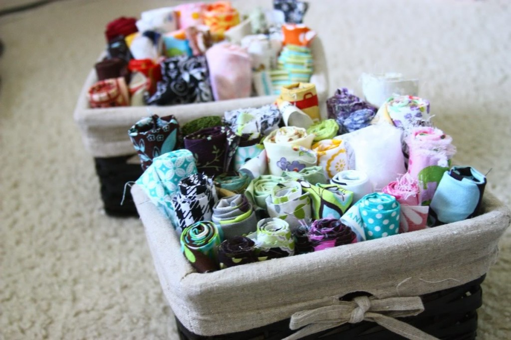 fabric scrap baskets