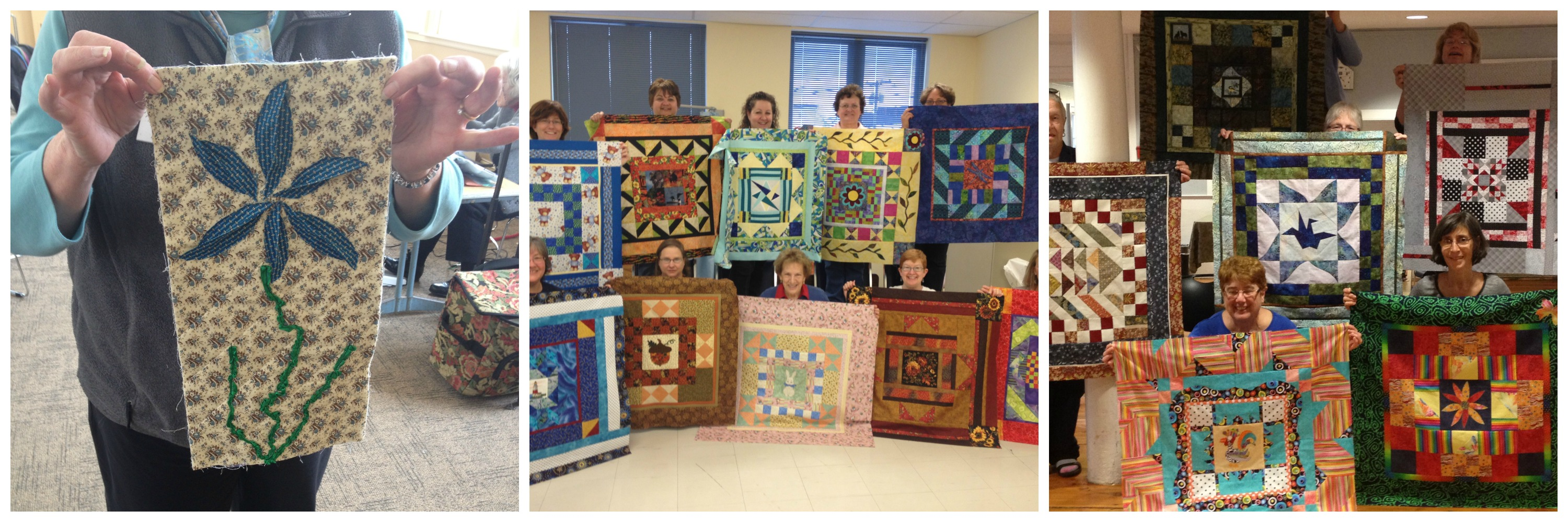 """Plays Well With Others"" – An inspiring look at group quilt making beyond your basic round robin. Accompanying and decidedly un-basic ""Round Robin in a Day"" workshop will get your guild working together to create entire quilt tops in record time."