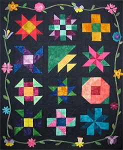 Midnight Posies Block of the Month Quilt Pattern